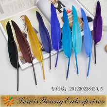 Special design unique cheap quill feather pen/feather ball pen