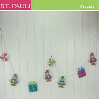 funny decor elf doll christmas door artificial garland