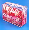 Wholesale custom fashion zipper clear waterproof pvc cosmetic bag