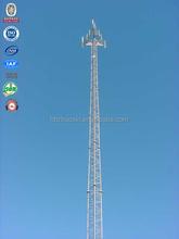 Galvanized steel tubular telecom gsm fm radio cellphone three leges tower