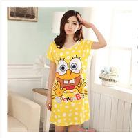 women cartoon printed nightgown