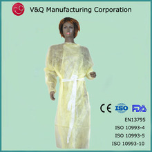 Health products disposable PP+ PE coated hospital gown