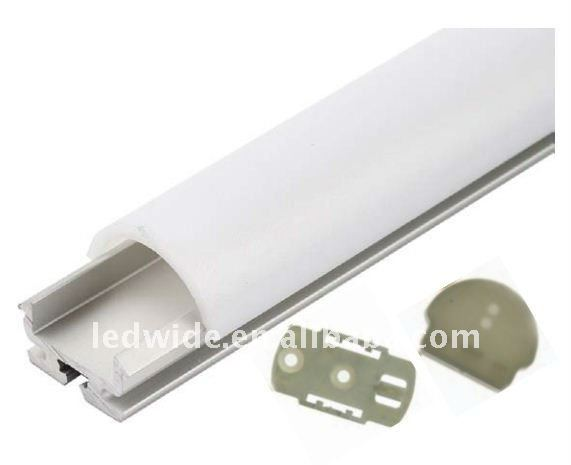 aluminium led profile for led strips milky cover 1m 2m 3m or customized length. Black Bedroom Furniture Sets. Home Design Ideas