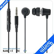 super bass earbuds metal earphone in ear design