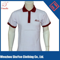 Promotional advertisement printed dry fit polo shirt, cotton polyester polo shirt