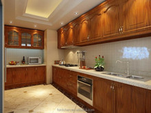 solid wood kitchen cabinet with kitchen furniture 3D pictures