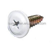 Button head drywall screws white head ZY plated 8g x25