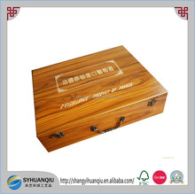 Pine Type and Wood Material wooden gift boxes for wine glasses boxes