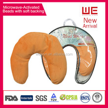Microwave activated U shape neck pillows with beads