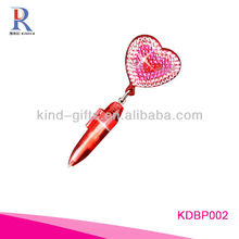 crystal bling mini pen with heart-shaped design