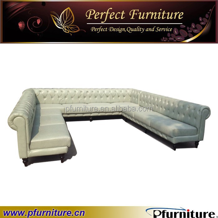 wholesale ktv sectional leather booth sofa pfs1507