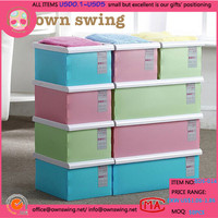 Stackable Plastic Storage Containers Foldable Plastic PP Storage Container Organizer Case Shoes / Shirts / Clothing Box Holder