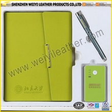 Shenzhen Promotion Factory Direct Professional Stylish Multifunctional Cheap Leather USB Dairy Made In China