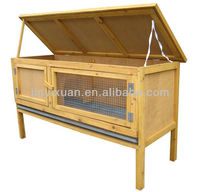 Outdoor Waterproof Wooden Rabbit Cage with Tray / Wood Rabbit House / Pet Cage