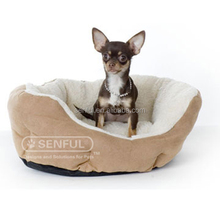 Ultra Comfortable suede plush pet bed dog bed cat bed