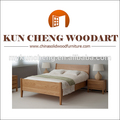 De madera maciza cama individual/venta caliente de alta calidad de madera moderna cama individual