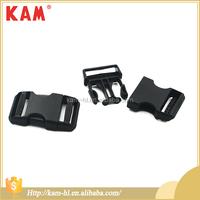 Kam eco-friendly custom black plastic side release bag buckle