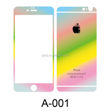 high quality rainbow tempered glass screen protect film,ultra thin screen protector,9H screen protective film for iphone