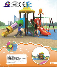 Economic outdoor playground with slide and swing for children