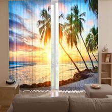 sanya landschaft 3d digitalen gedruckt vorhangstoff. Black Bedroom Furniture Sets. Home Design Ideas