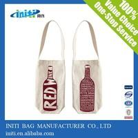 China promotional fashion quality Wine Canvas Bag