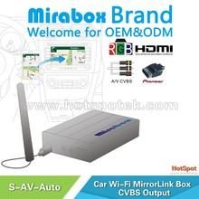 Auto switch OEM/ODM Wireless car wifi mirrorlink mirabox android car pc with gps bluetooth wifi 3g