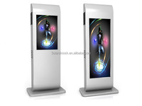 46 inch floor standing network version ultrathin led ad screen display with touch screen