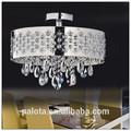 de latón de alta calidad nuevo diseño 6 luces colgante de cristal de la luz