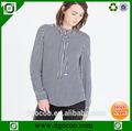 regalo de navidad de moda elegante blusa casual el último diseño de la camisa de manga larga blusa