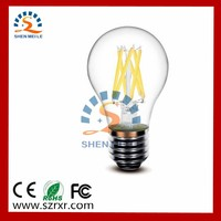 4W 6W 8W E27 360degree A19 filament led lighting bulb