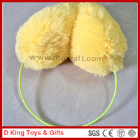 Yellow Color Simple Design Plush Earmuff Yellow Plush Earmuff