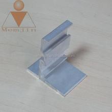 Silver/natural Anodized Aluminum extrusion frame profiles for solar border in grade 6000 series aluminum