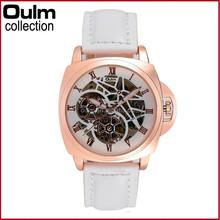 Oulm designer leather wristwatch, automatic lady watch, fashion lady watch