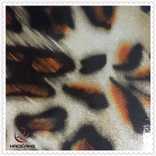 leopard printed wholesale leather for bag