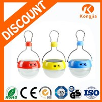 Colorful Ultra Bright ABS 9 Led Portable Colorful Outdoor Rechargeable Solar Camping Lantern