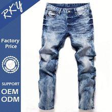 Custom Printing Breathable Men Jeans Pent