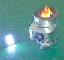 Wood stove for cooking , Stove for camping with a 10 Watts Thermoelectric Power Generator