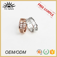 White gold, rose gold letter cutout ring with Trade Assurance
