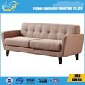 Alta qualidade 3 monolugares sofá da tela com almofada e pernas de madeira