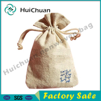 Hot sale Mini drawstring Eco-Friendly Jute Gunny bag