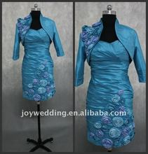 ED034 Free shipping Real samples 2011 taffeta bridal wedding short mother dress 2012