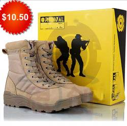 Cheap Combat shoe tactical footwear SWAT military boot camp for teens