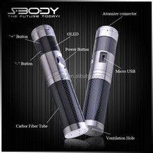 S-BODY 2014 innovation 30w staninless steel mod for 18350,can show clock,puffs, calendar mod electric smoking pipe