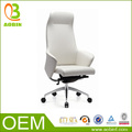 elegante de alta de nuevo blanco de cuero administrador de diseño de mobiliario de oficina