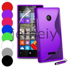 High Quality S Line Soft TPU Gel Case Cover for Nokia Lumia 435