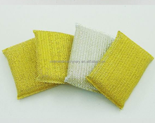 New Stainless Steel Sponge Scourer with Plastic Handle Heavy Duty Cleaning