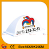 White PP plastic neon taxi sign with high quality