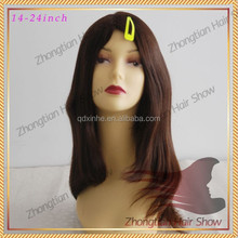 4x4 Jewish wigs in stock Silk Top Undetectable slight Layer Jewish Wig European Hair