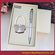 Crystal Touch Ball Pen And European Folding Bag Decorative Hanger, gift for women 2015