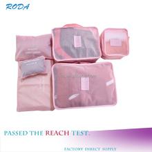 2015 Set-6 Nylon Fabric Colorful Foldable Travel Storage Bag